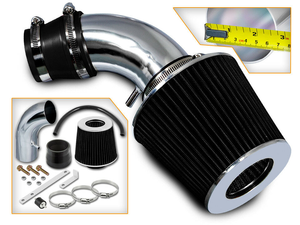 BCP RED 90-93 Accord All 2.2L L4 Short Ram Air Intake Induction Kit Filter