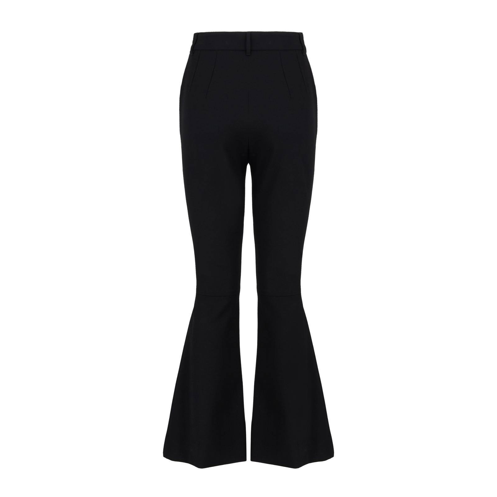 Dettagli su Dolce & Gabbana Pantaloni A Zampa Di Elefante In Lana Tinta Unita