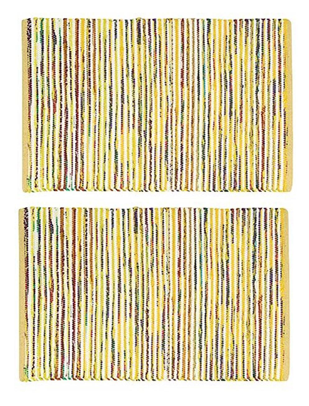 2-PACK-Nourison-Montclair-Stripe-Accent-Floor-Area-Rugs-24-034-x-36-034-or-30-034-x-48-034 thumbnail 3