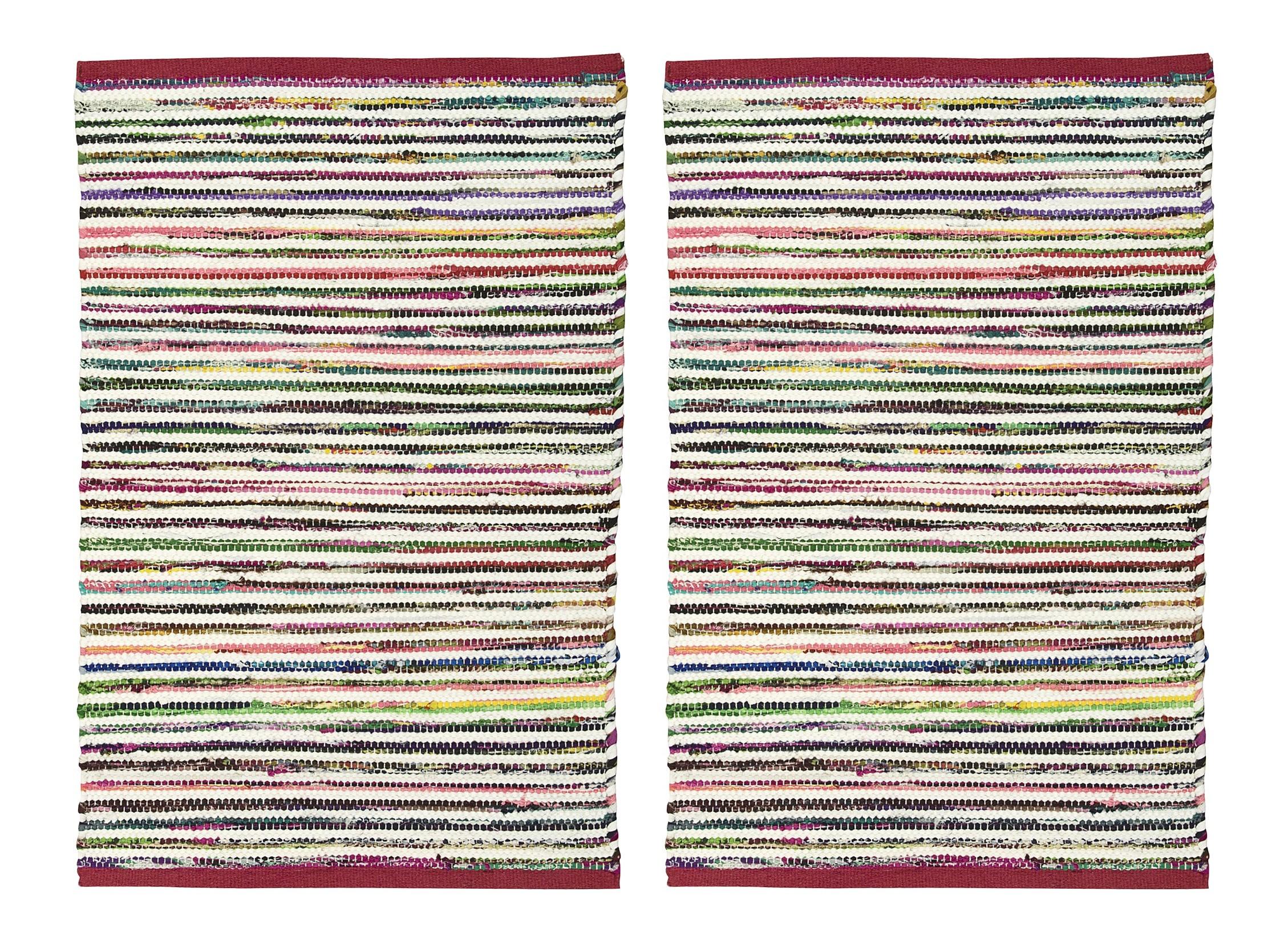 2-PACK-Nourison-Montclair-Stripe-Accent-Floor-Area-Rugs-24-034-x-36-034-or-30-034-x-48-034 thumbnail 5
