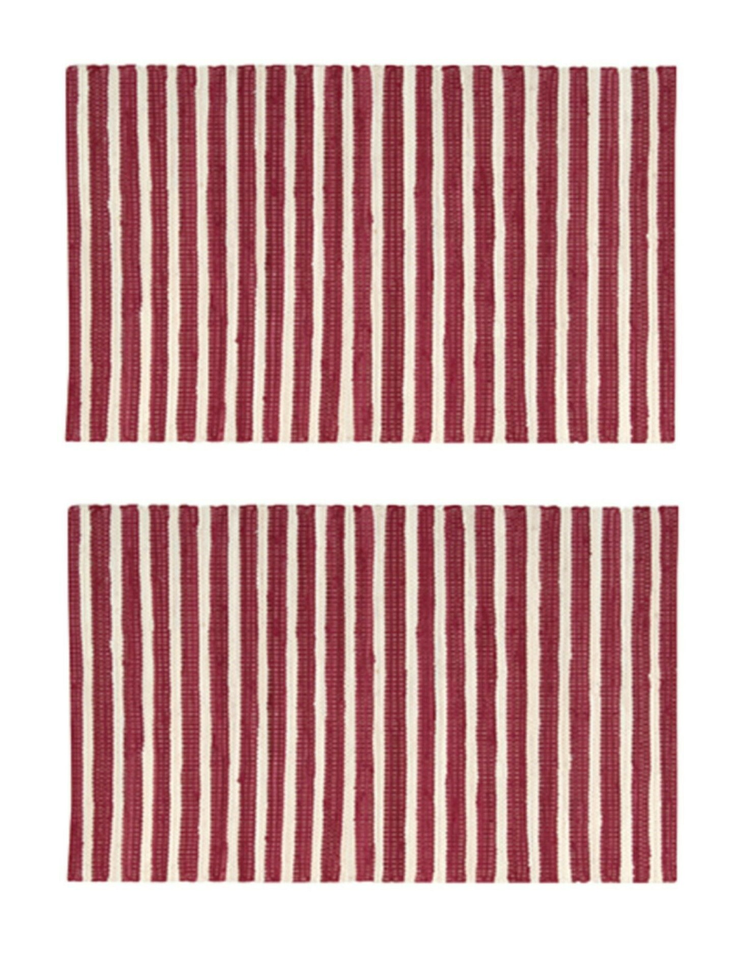 2-PACK-Nourison-Brunswick-Stripe-Accent-Floor-Area-Rugs-24-034-x-36-034-or-30-034-x-48-034 thumbnail 10