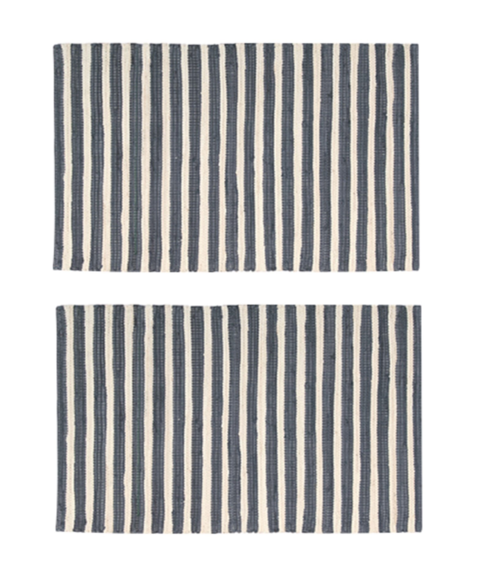 2-PACK-Nourison-Brunswick-Stripe-Accent-Floor-Area-Rugs-24-034-x-36-034-or-30-034-x-48-034 thumbnail 8
