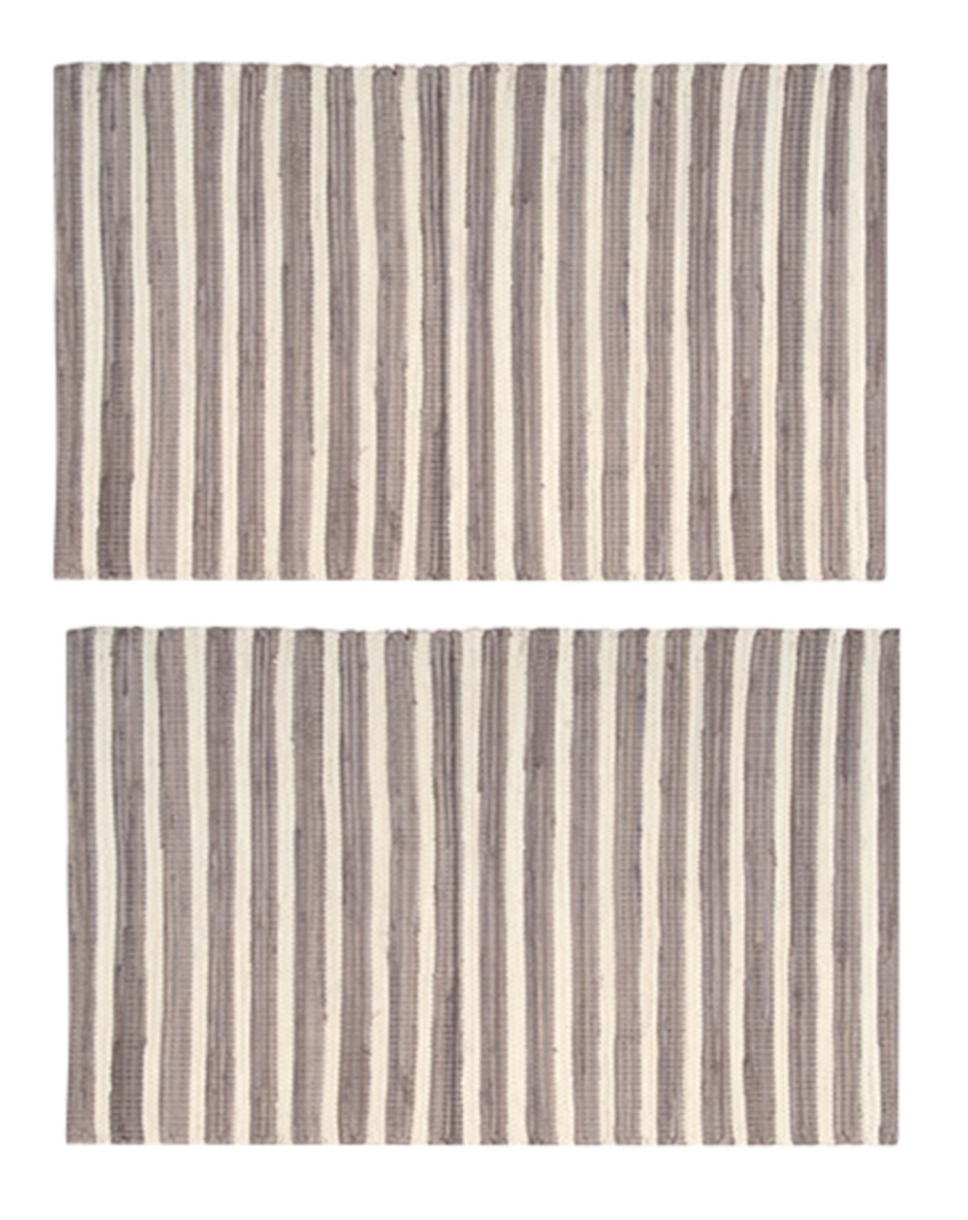 2-PACK-Nourison-Brunswick-Stripe-Accent-Floor-Area-Rugs-24-034-x-36-034-or-30-034-x-48-034 thumbnail 6