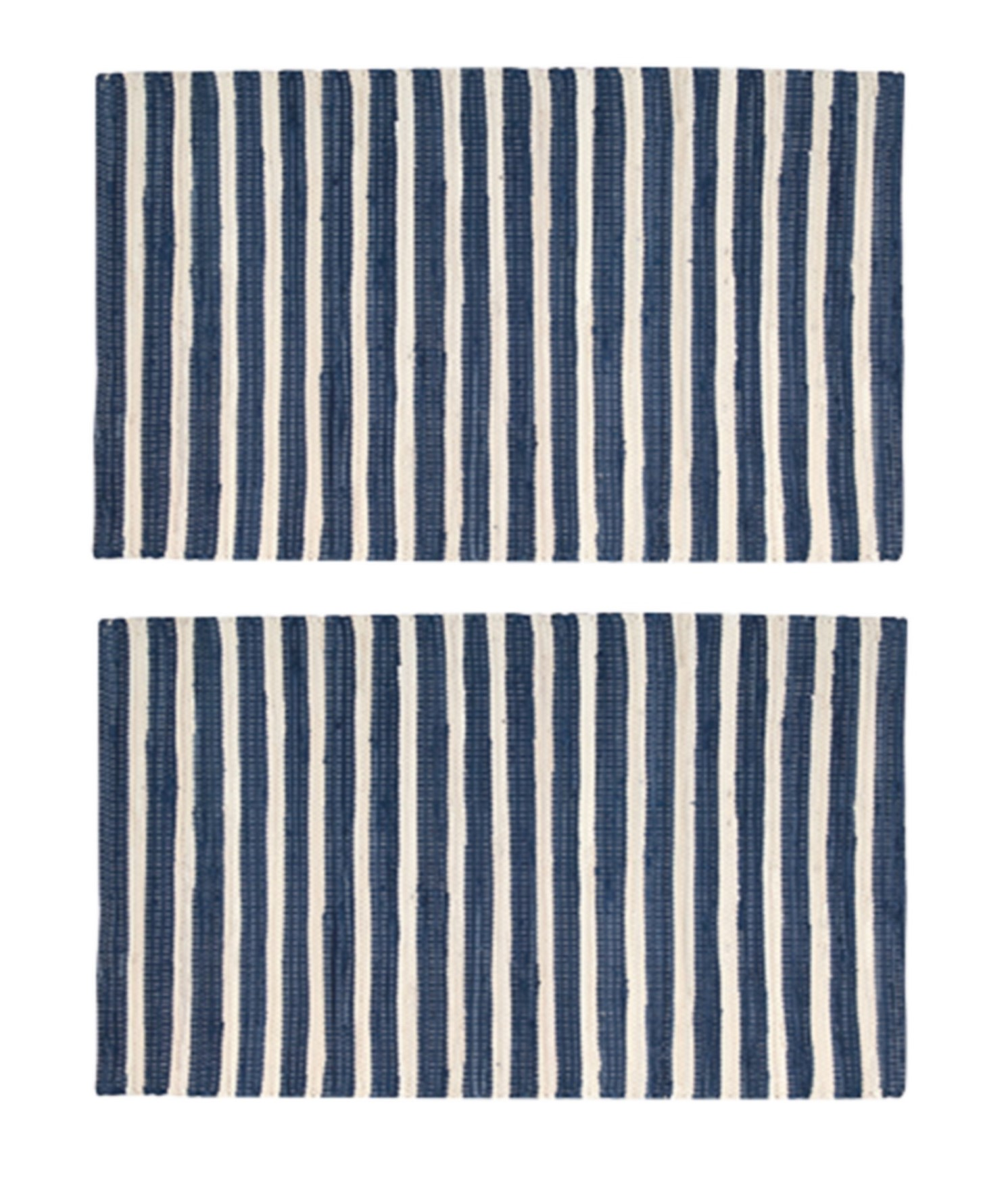 2-PACK-Nourison-Brunswick-Stripe-Accent-Floor-Area-Rugs-24-034-x-36-034-or-30-034-x-48-034 thumbnail 4