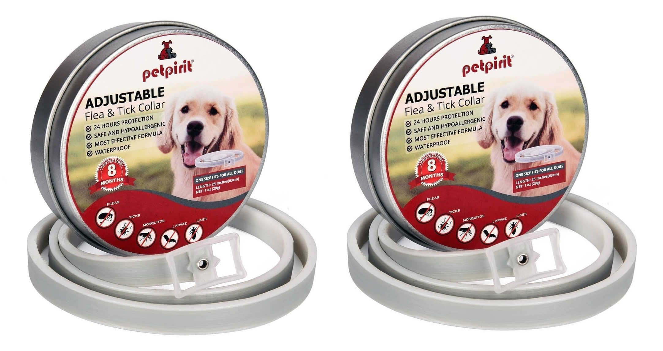 8 Month Flea and Tick Treatment and Prevention for Cats Cat Flea and Tick Collar Enhanced with Natural Essential Oils Adjustable /& Waterproof One Size Fits All