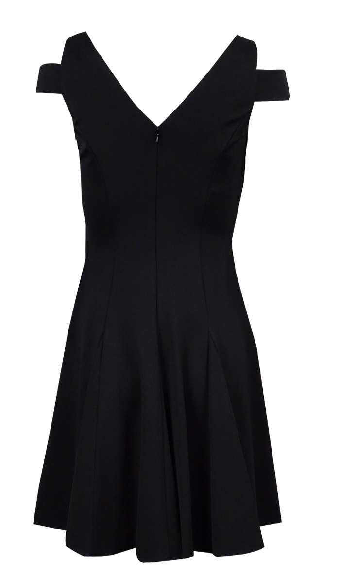 Lauren-Ralph-Lauren-Women-039-s-Cutout-Shoulder-Dress-0-Black thumbnail 4