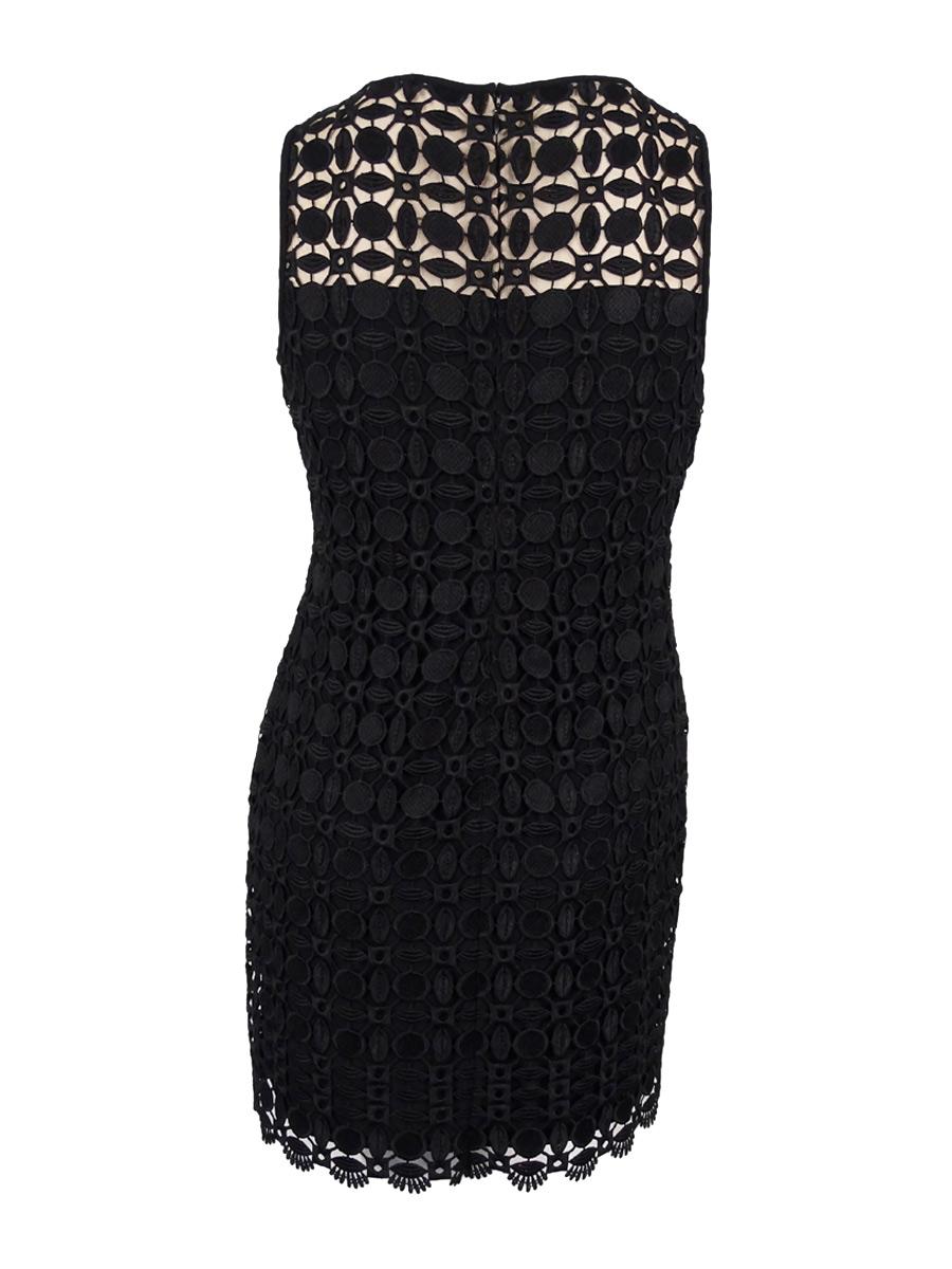 Lauren-Ralph-Lauren-Women-039-s-Geometric-Lace-Dress thumbnail 4