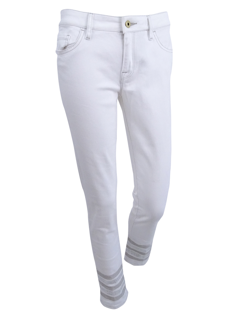 ad0a8aef Tommy Hilfiger White Women's Size 6x28 Embellish Stretch Jeans #514 ...