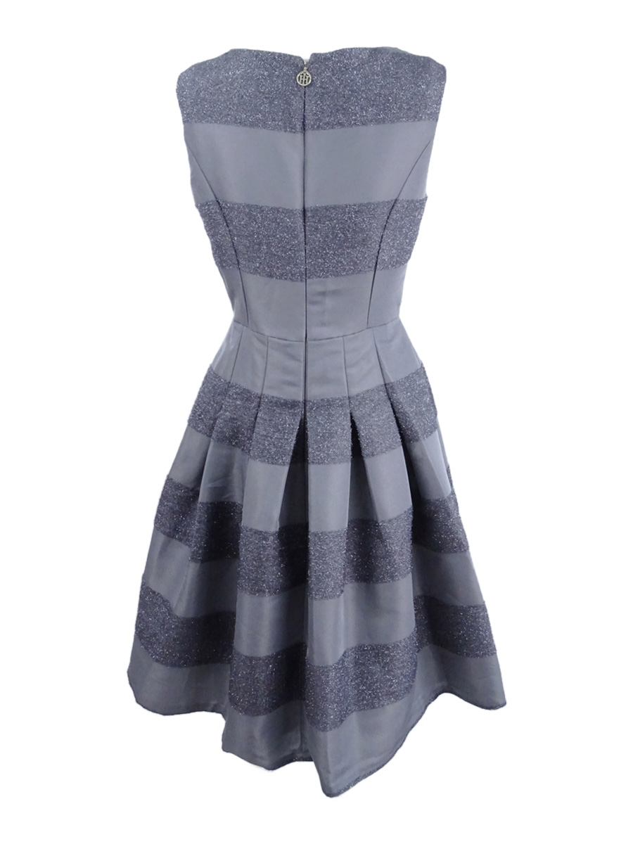 Tommy-Hilfiger-Women-039-s-Striped-Fit-amp-Flare-Dress thumbnail 12