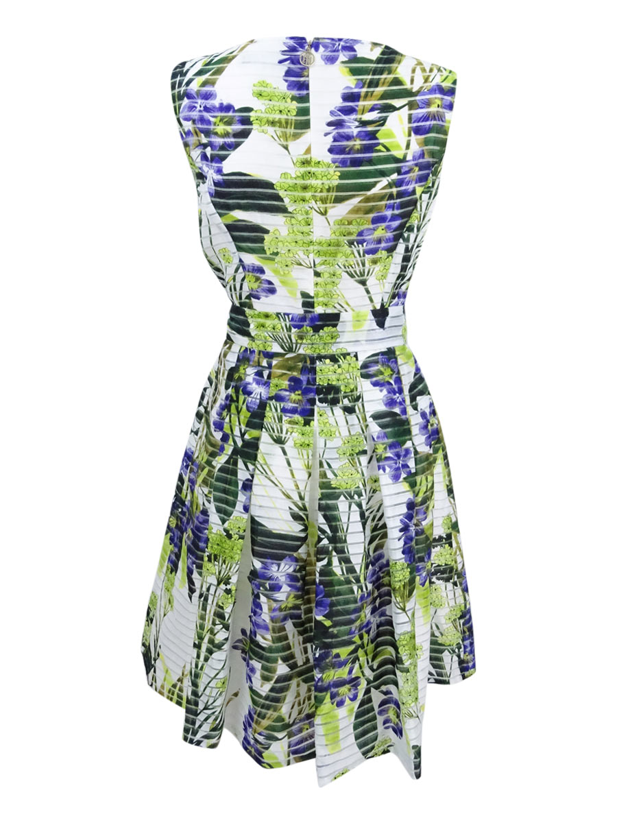 Tommy-Hilfiger-Women-039-s-Floral-Print-Fit-amp-Flare-Dress thumbnail 4
