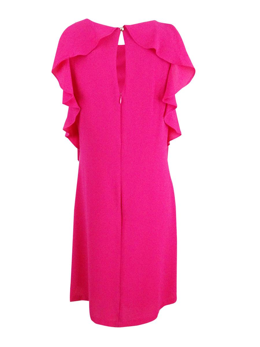 Jessica-Simpson-Women-039-s-Ruffled-Shift-Dress thumbnail 6