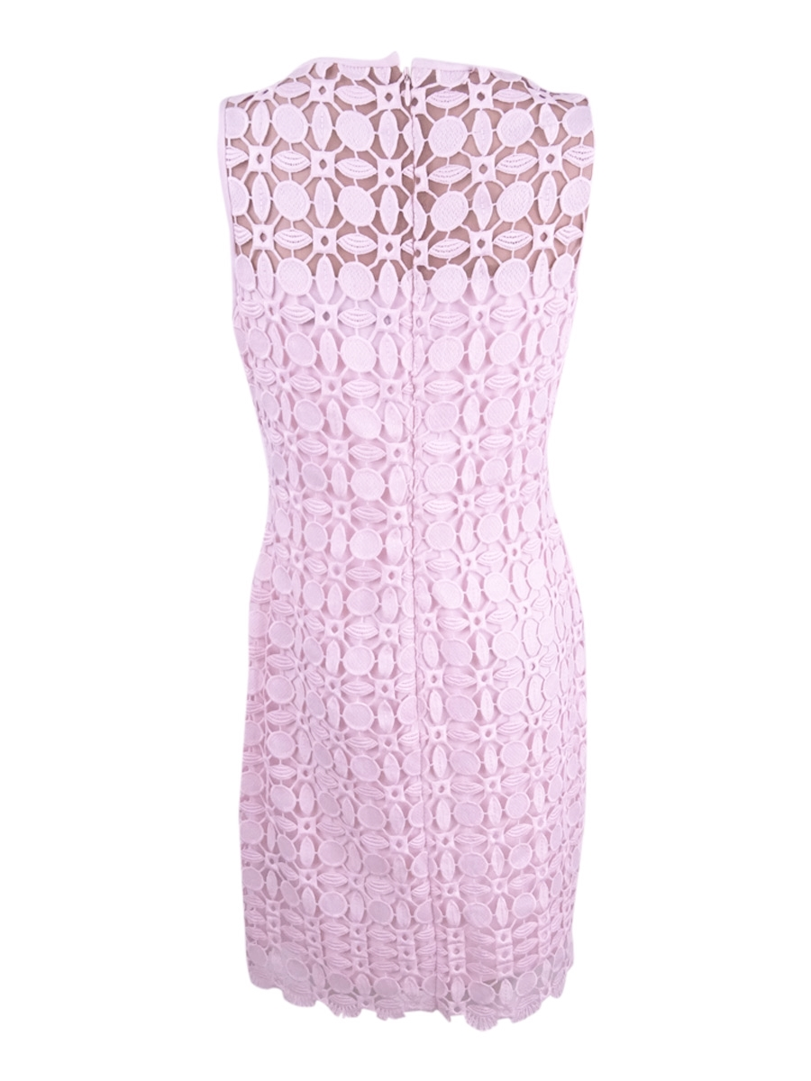 Lauren-Ralph-Lauren-Women-039-s-Geometric-Lace-Dress thumbnail 6