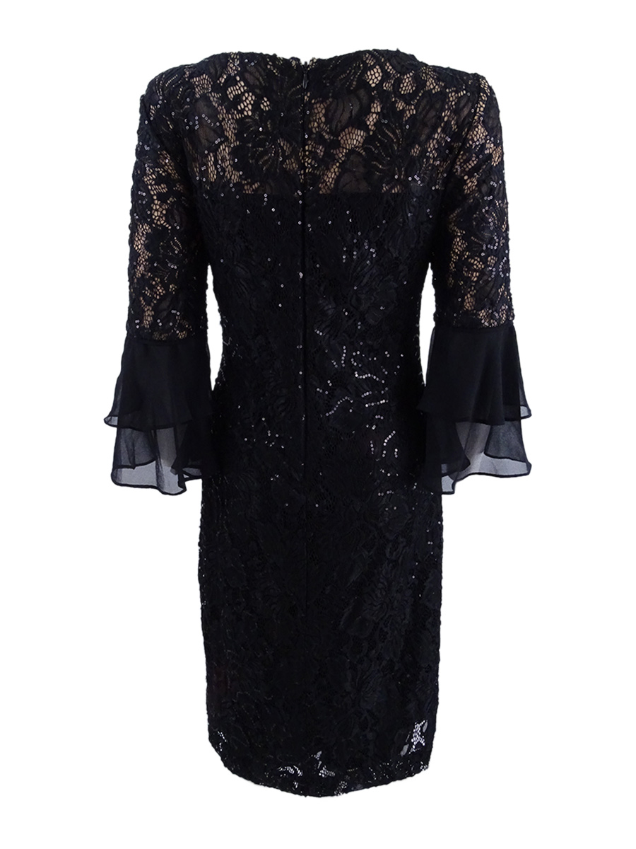 Lauren-by-Ralph-Lauren-Women-039-s-Sequined-Lace-Dress thumbnail 4