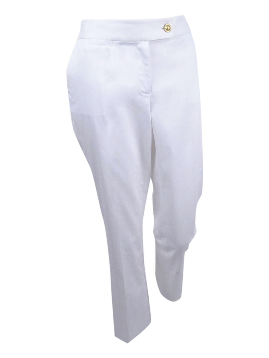 b0104b41b2b Tahari ASL Women s Petite Embossed-Button Pants