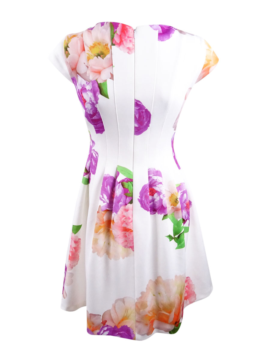 Calvin-Klein-Women-039-s-Floral-Print-Dress thumbnail 4