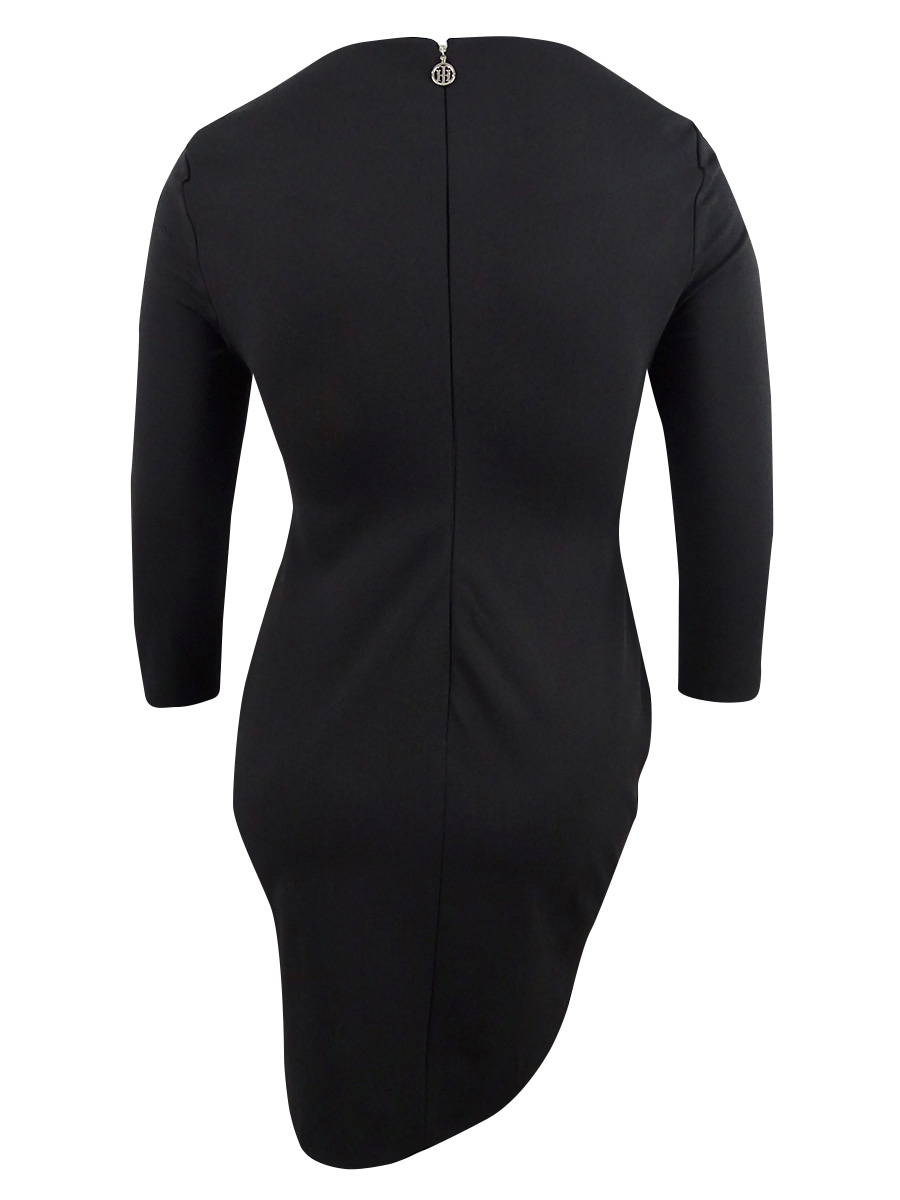 Tommy-Hilfiger-Women-039-s-Snap-Sleeve-Sheath-Dress thumbnail 4