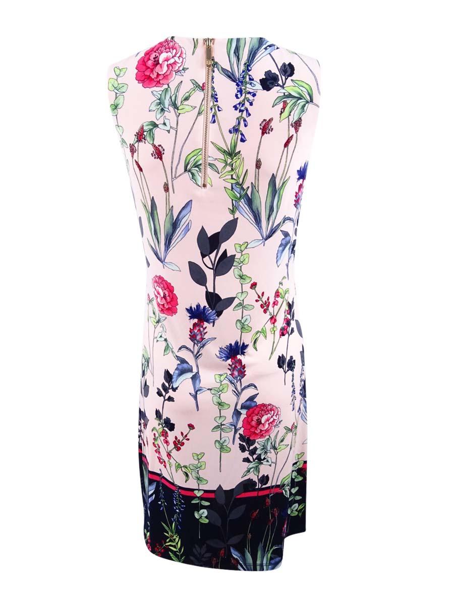 Tommy-Hilfiger-Women-039-s-Sleeveless-Printed-Border-Dress thumbnail 4