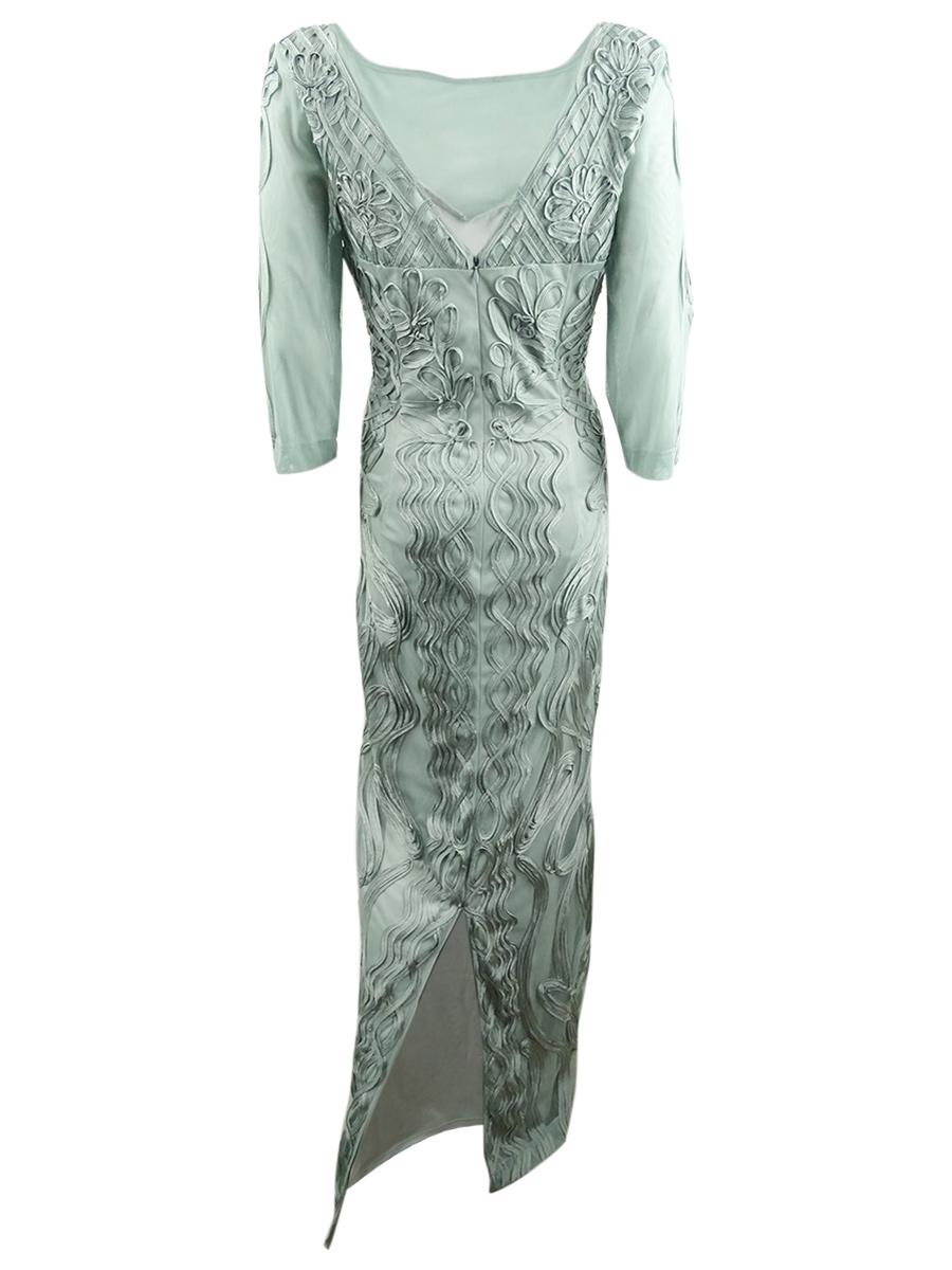 JS-Collections-Women-039-s-Illusion-Soutache-Gown thumbnail 4