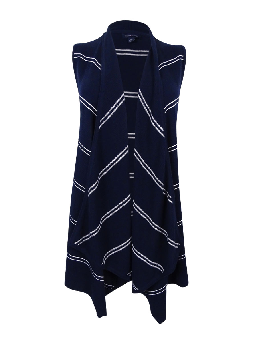 27d224021b84 Tommy Hilfiger Womens 1524 Navy White Striped Sleeveless Vest Top XS B B.  About this product. Picture 1 of 4  Picture 2 of 4  Picture 3 of 4 ...