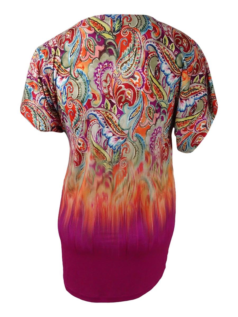 a2b7271ff78fa Lauren Ralph Lauren Women's Sunrise Printed Tunic Cover-Up | eBay