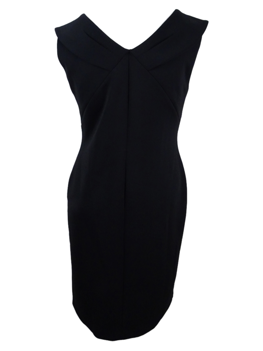 Calvin-Klein-Women-039-s-Plus-Size-Scuba-Sheath-Dress-24W-Black thumbnail 4