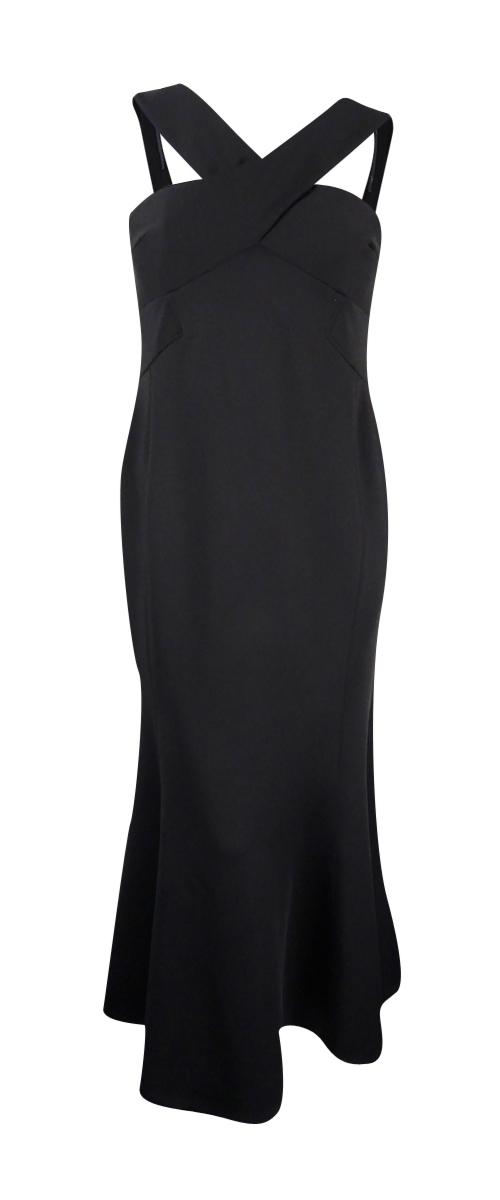 Calvin Klein Black X-front Scuba Women\'s Size 8 Ball Gown Dress #065 ...