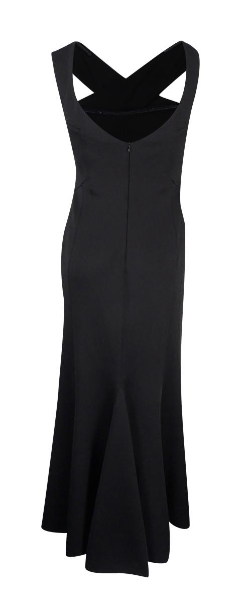 Calvin Klein Black X Front Scuba Womens Size 6 Ball Gown Dress Ebay