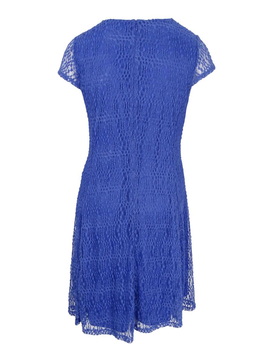 Alfani-Women-039-s-Plus-Size-Fit-amp-Flare-Lace-Dress thumbnail 6