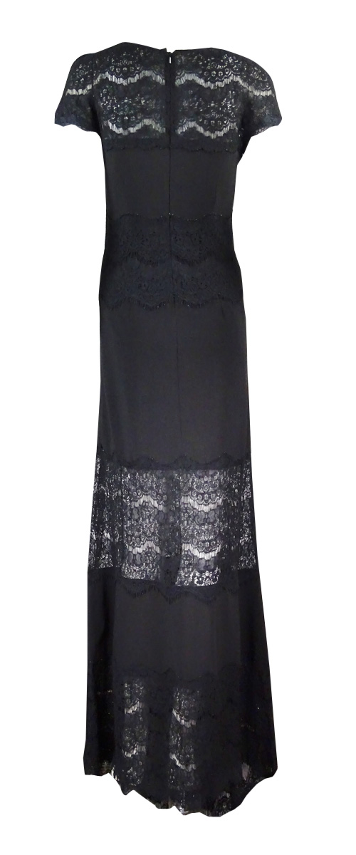 e51325f960a Betsy   Adam Women s Plus-Size Illusion-Lace Jersey Gown