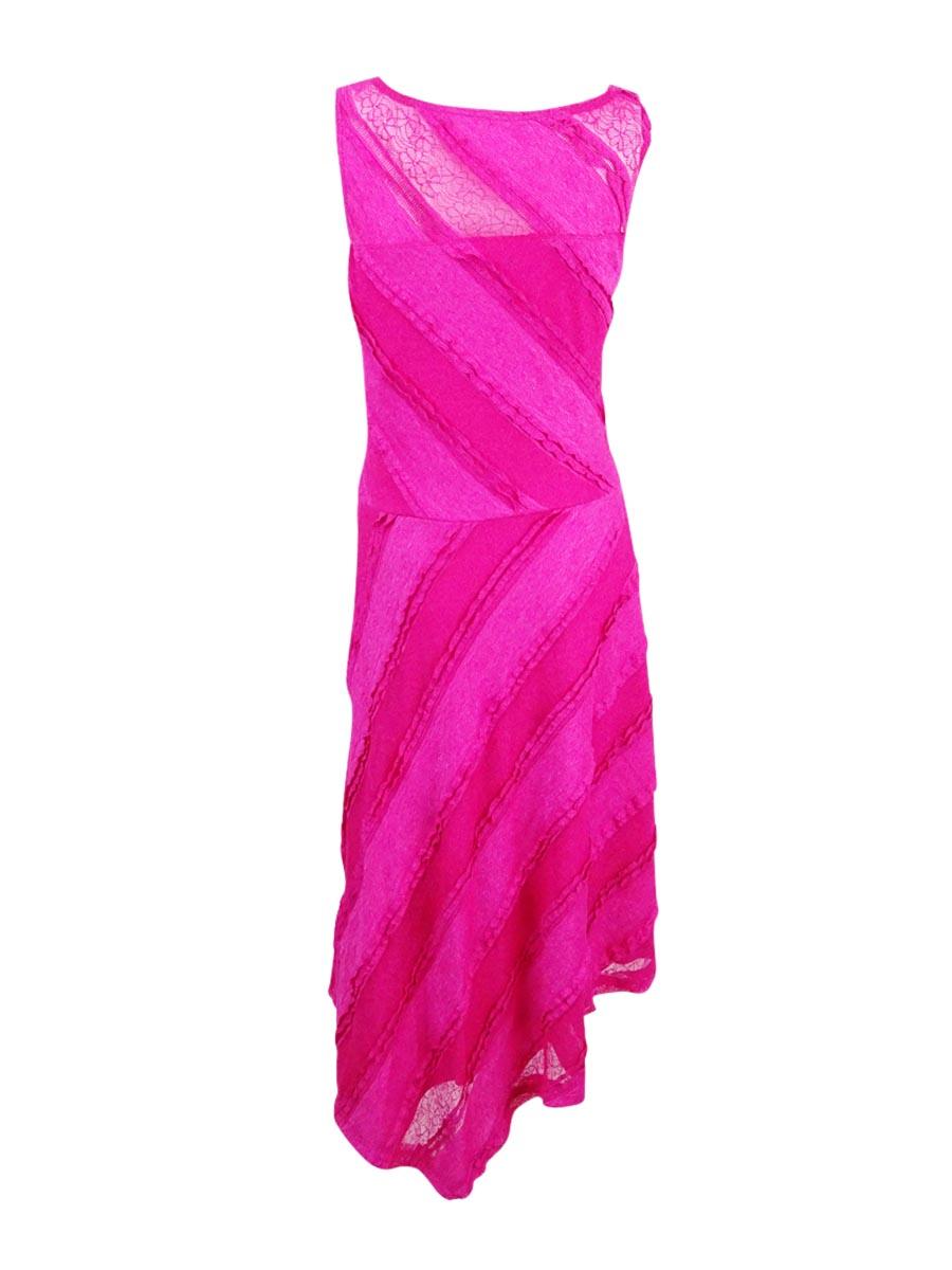 Sangria-Women-039-s-Lace-Asymmetrical-Midi-Dress thumbnail 4
