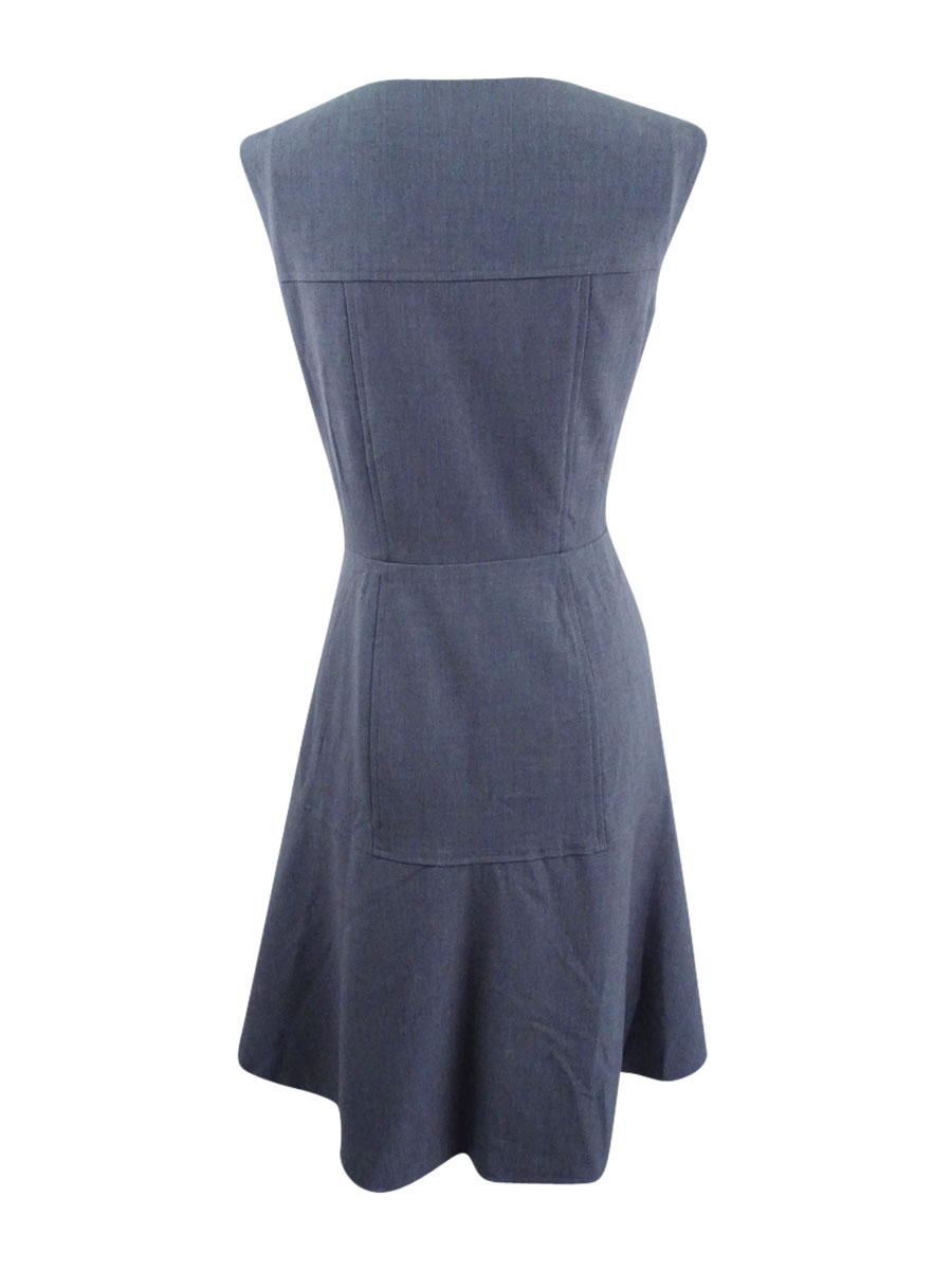 Nine-West-Women-039-s-The-Essential-Fit-amp-Flare-Dress thumbnail 6