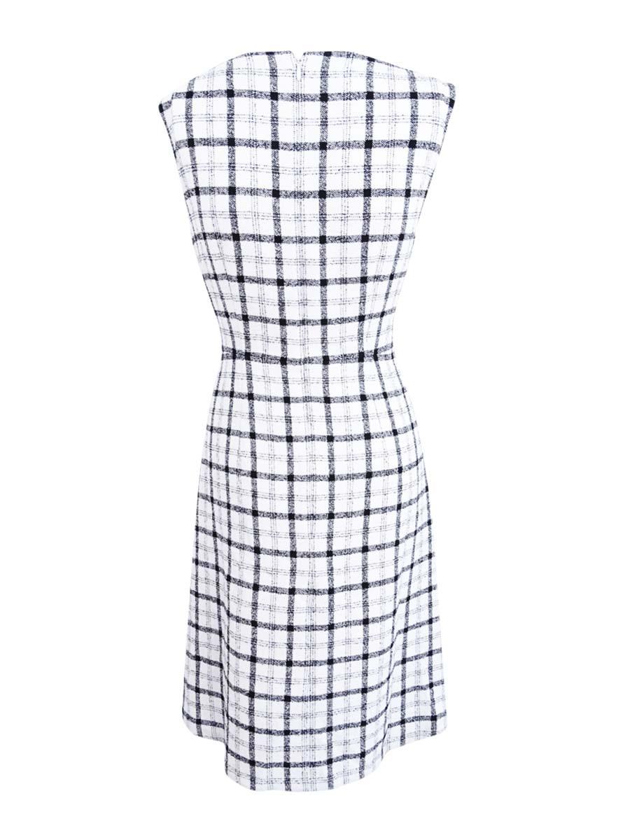Nine-West-Women-039-s-Plaid-Dress thumbnail 4