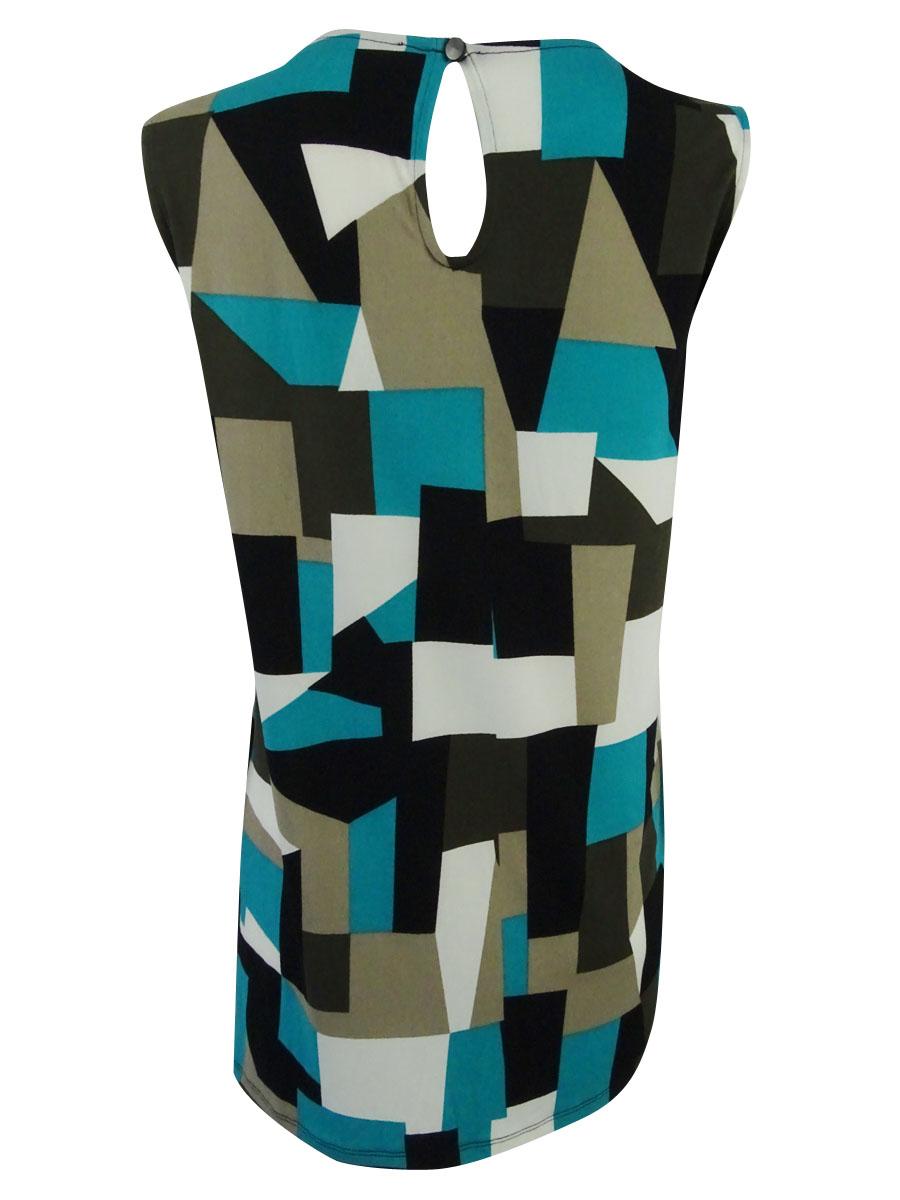 Kasper-Women-039-s-Plus-Size-Geometric-Print-Shell-Top thumbnail 4