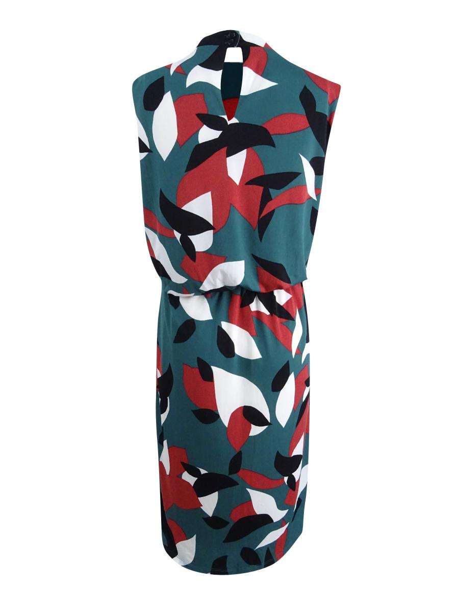 Nine-West-Women-039-s-Plus-Size-Keyhole-Sheath-Dress thumbnail 4