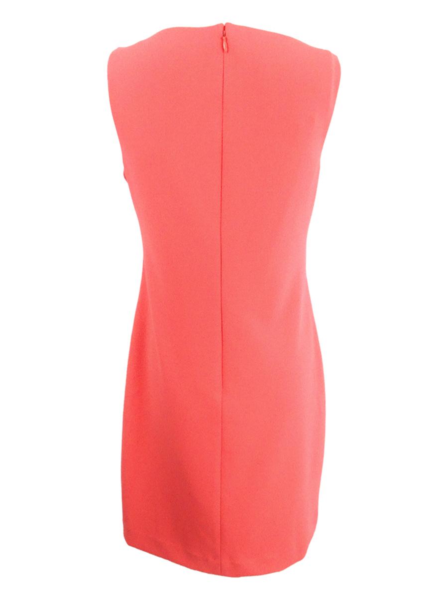 Lauren-by-Ralph-Lauren-Women-039-s-Ruffled-Crepe-Dress thumbnail 4
