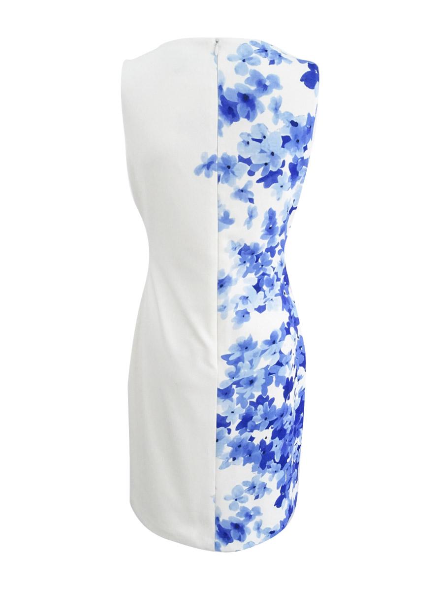 Lauren-by-Ralph-Lauren-Women-039-s-Floral-Print-Crepe-Dress thumbnail 4