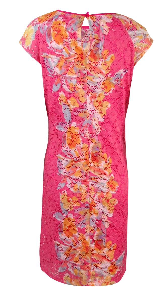 Ronnie-Nicole-Women-039-s-Printed-Cap-Sleeve-Lace-Dress thumbnail 4