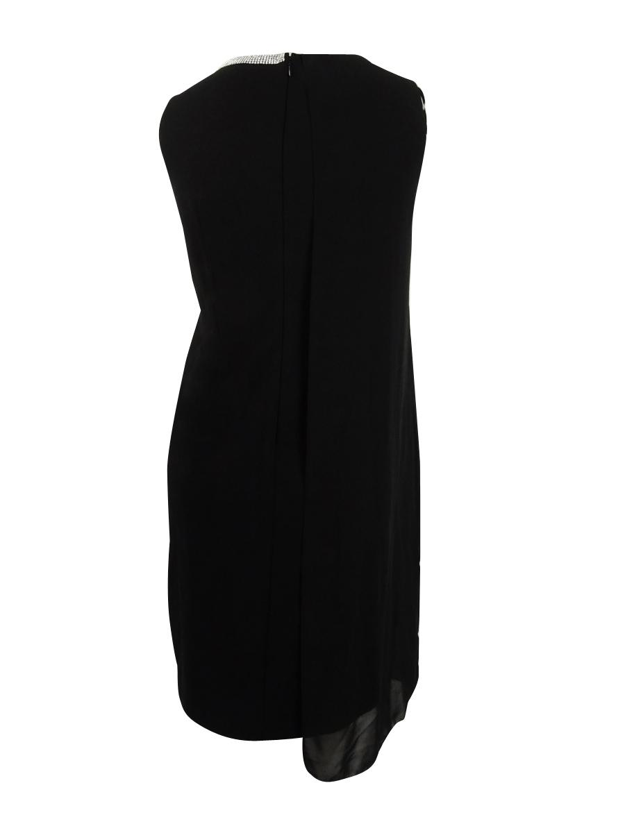 SL-Fashions-Women-039-s-Plus-Size-Embellished-Sheath-Dress thumbnail 4