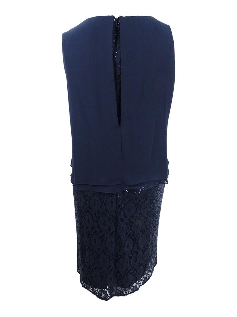 SL-Fashions-Women-039-s-Plus-Size-Lace-Embellished-Midi-Dress thumbnail 4
