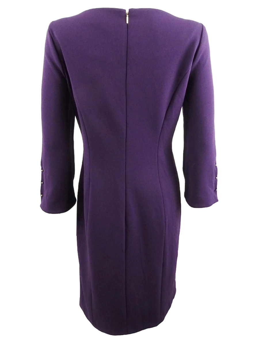DKNY-Women-039-s-Long-Sleeve-Sheath-Dress thumbnail 4