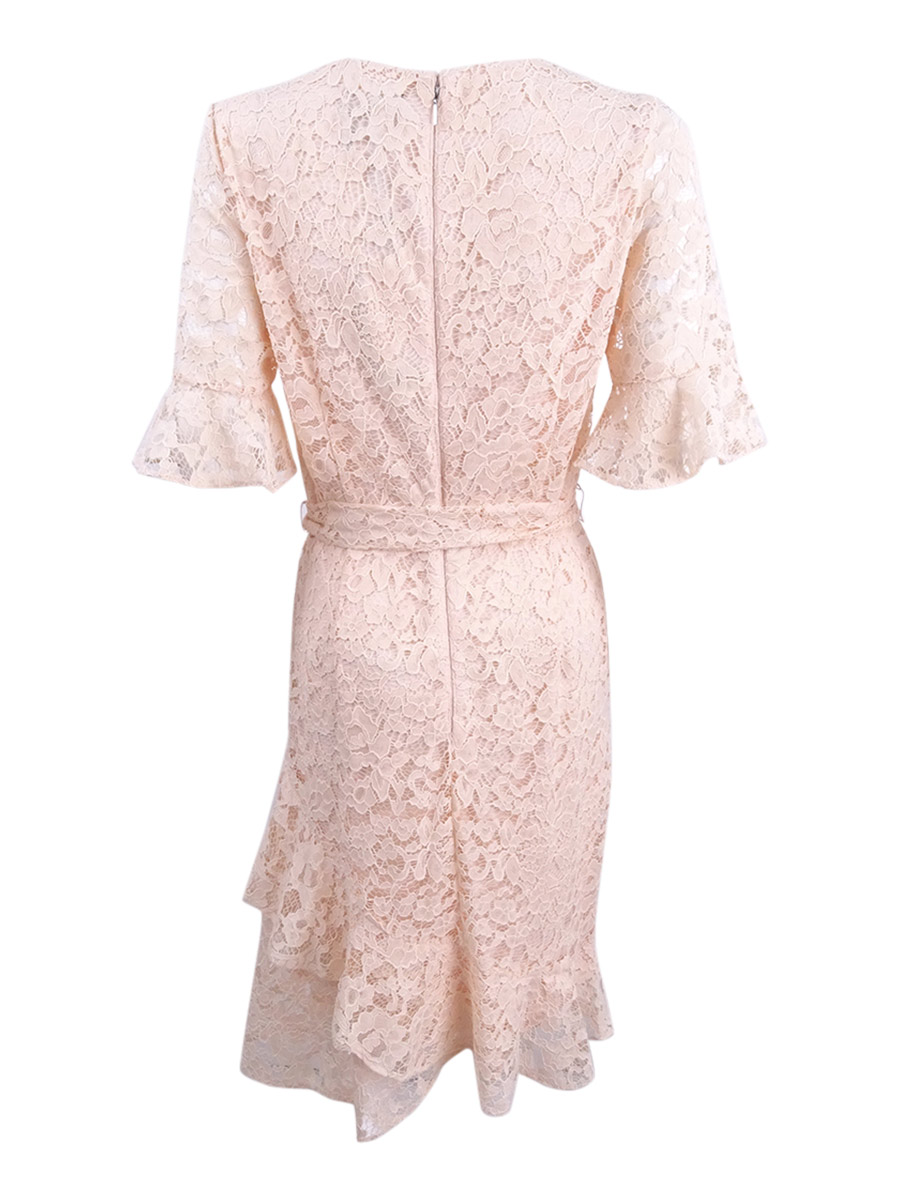 DKNY-Women-039-s-Lace-Ruffled-Hem-Dress thumbnail 4