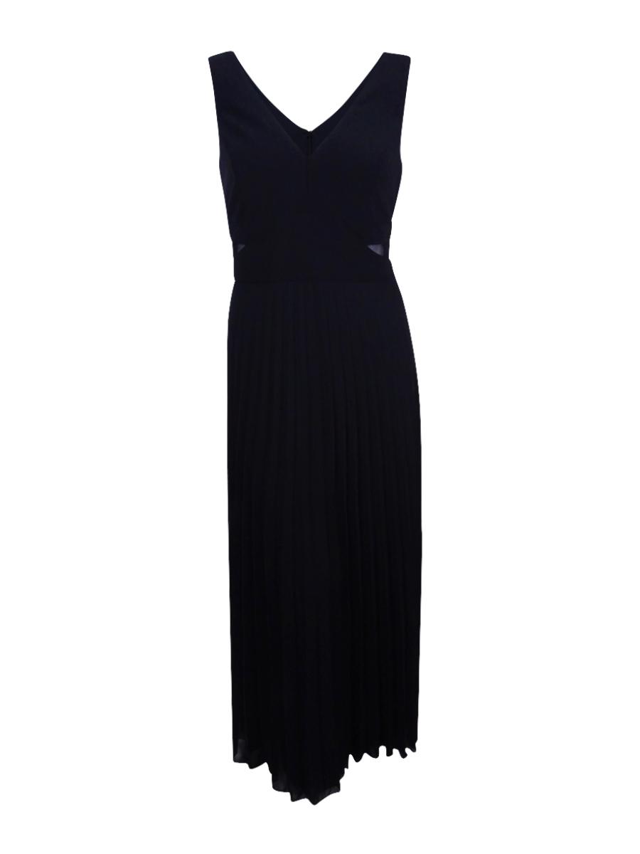 Xscape Women\'s Black Plus Size Pleated Sleeveless Evening Dress Sz ...