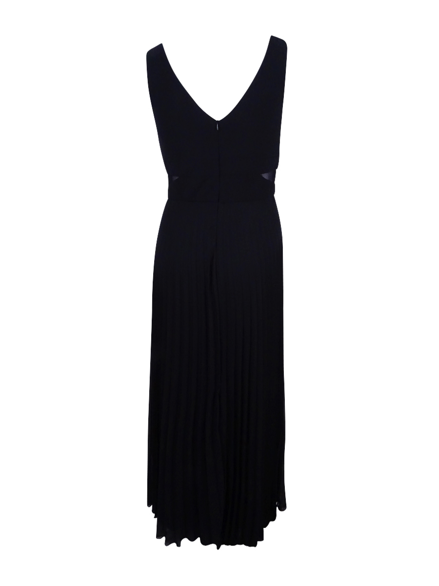 Xscape Women\'s Black Plus Size Pleated Sleeveless Evening Dress Sz ...