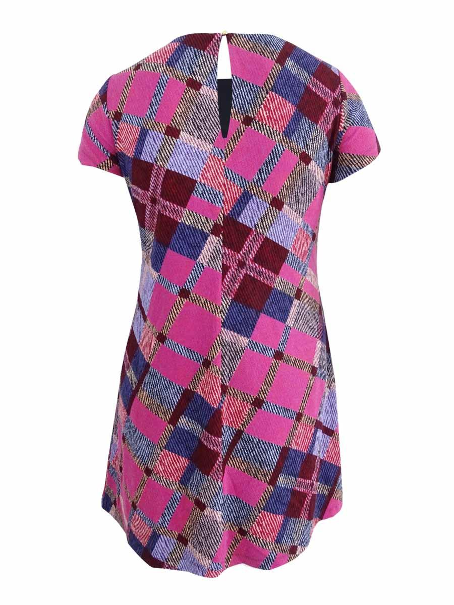Ellen-Tracy-Women-039-s-Plus-Size-Printed-Knit-Dress thumbnail 4