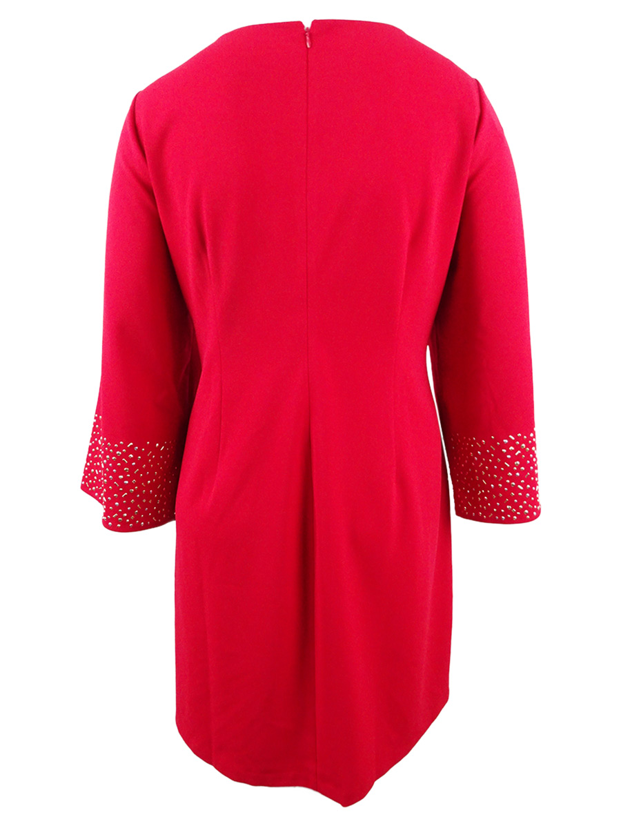 Jessica-Howard-Women-039-s-Long-Sleeve-Shift-Dress thumbnail 6