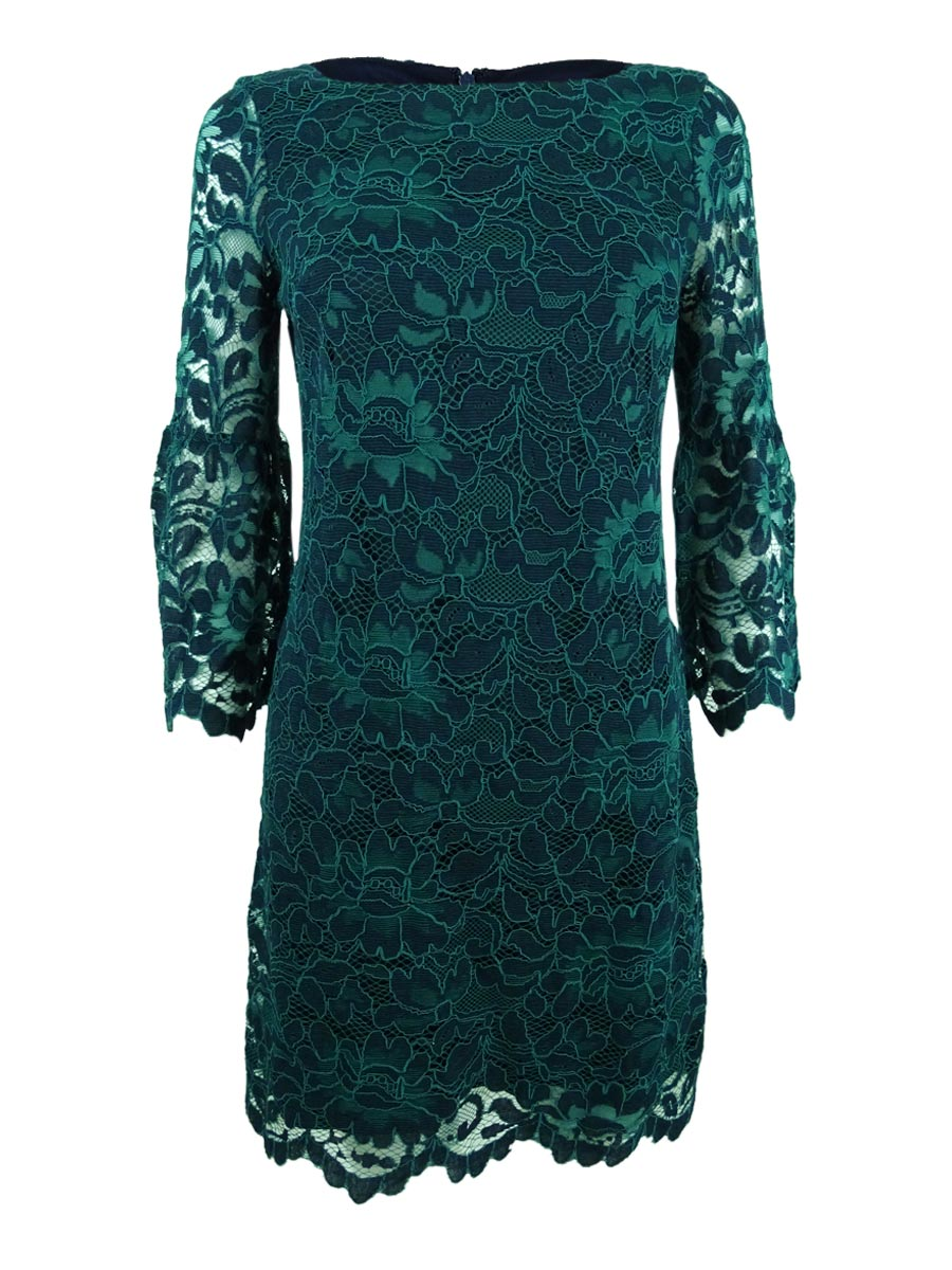 cb1833bd5d3 Jessica Howard Women s Petite Bell-Sleeve Lace Dress 10P