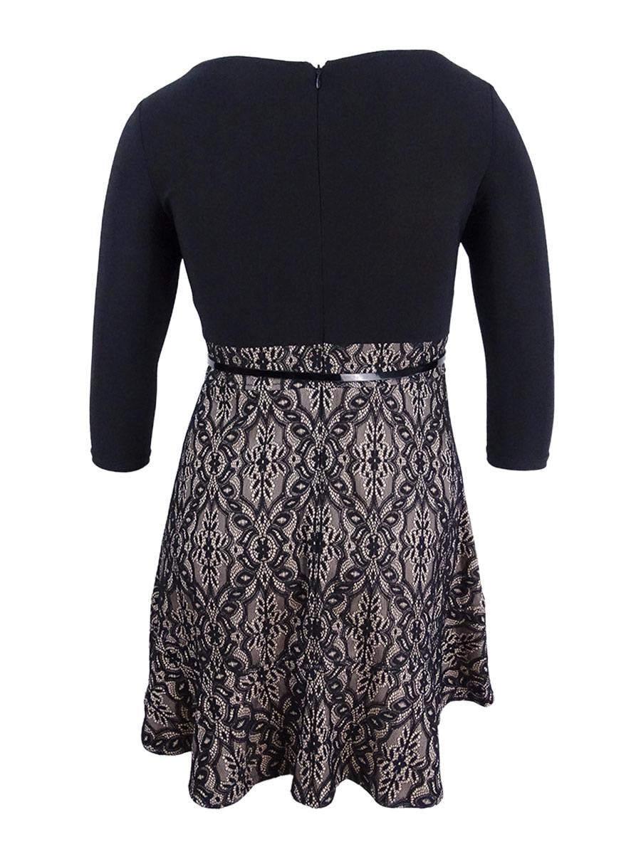 d5496e1c45b3 Jessica Howard Women's Petite Lace Fit & Flare Dress   eBay