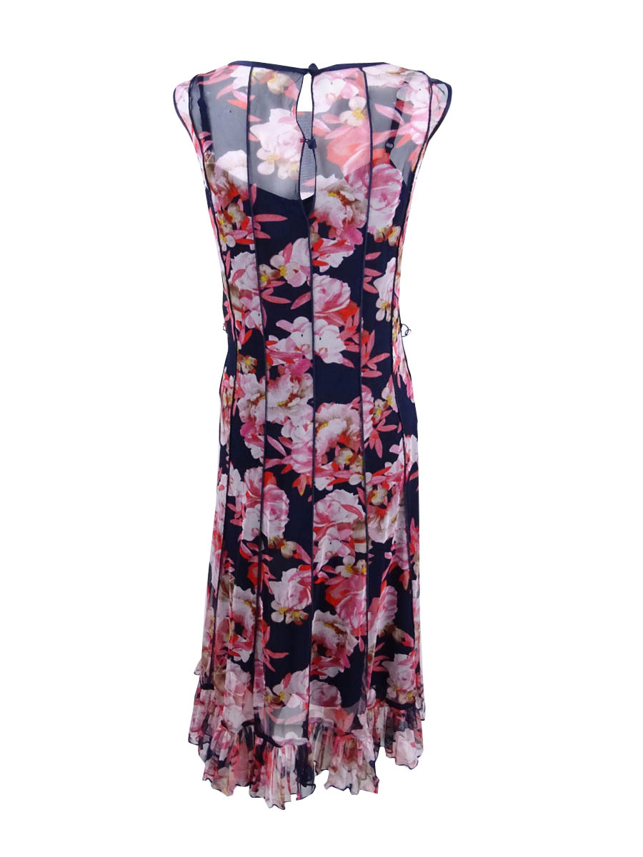 Jessica-Howard-Women-039-s-Pintucked-Floral-Print-Dress thumbnail 4