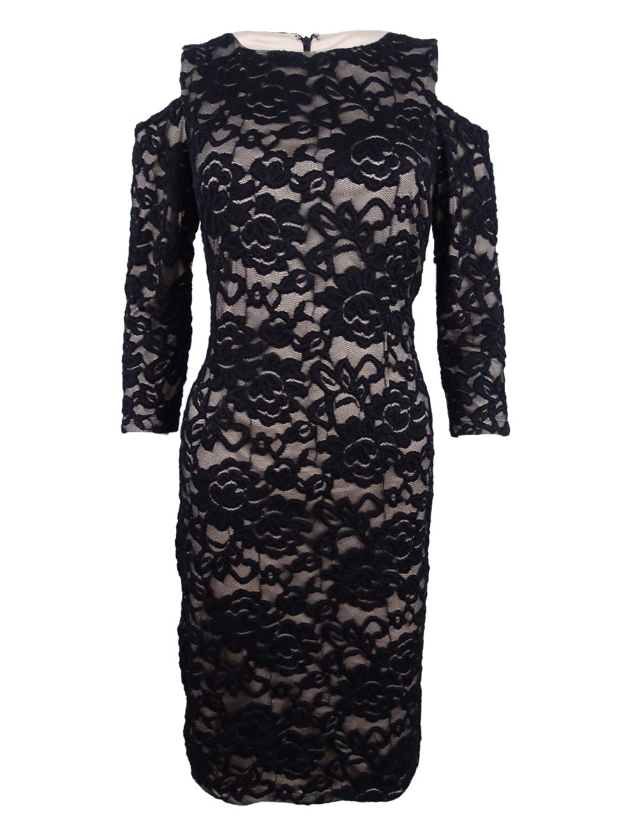001364f217db Jessica Howard Women's Cold-Shoulder Lace Sheath Dress | eBay