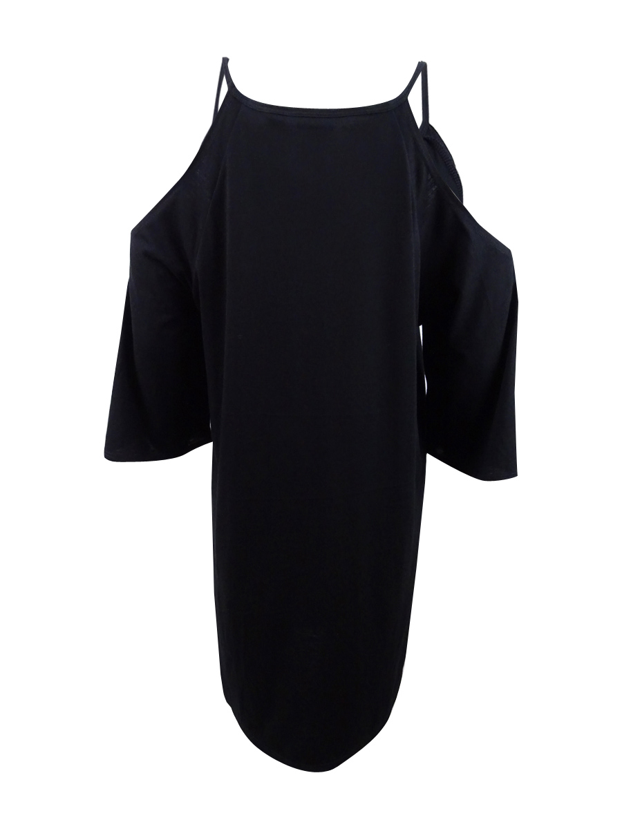 Dotti-Women-039-s-Embroidered-Cold-Shoulder-Cover-Up thumbnail 4